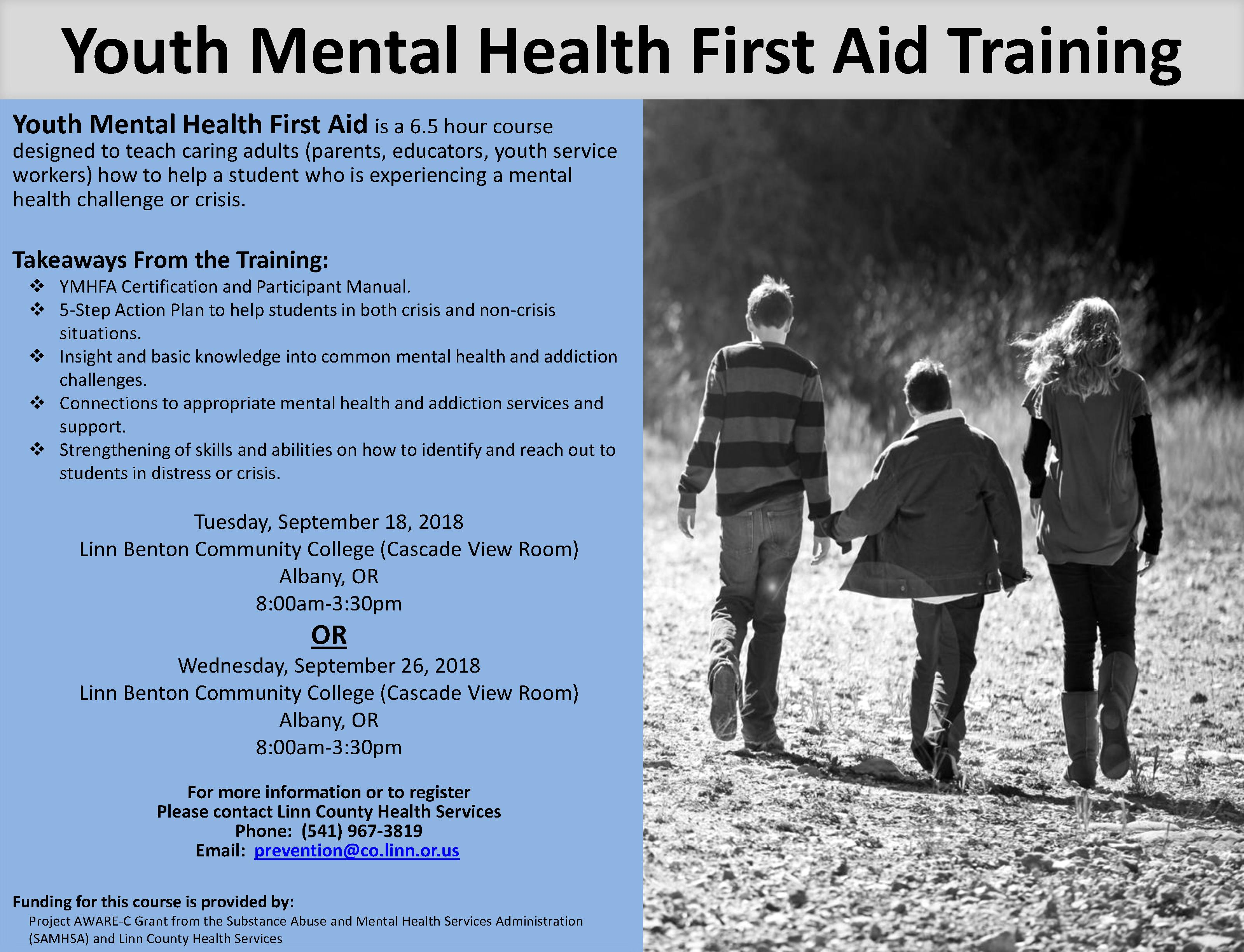 Mental Health First Aid Course Offerings Linn County Department Of