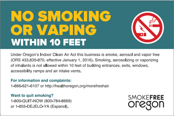 Oregon Smokefree Workplace Law Linn County Department Of Health