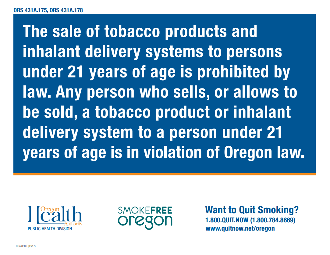 Tobacco 21 Linn County Department Of Health Services